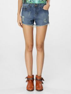 Short Jeans Cant�o Amanda Jeans M�dio