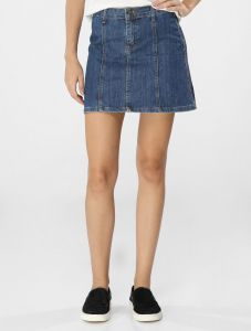 Saia Cant�o Jeans Young Jeans M�dio