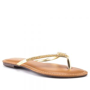 Tamanco Summer Cristais Dourado