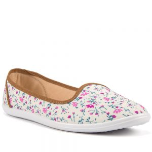 Sapatilha Moleca Floral Off-White
