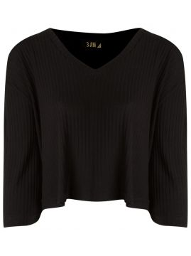 Top cropped de tricot 3:Am