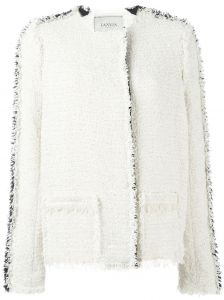 frayed trim bouclé jacket  Lanvin