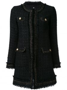 long bouclé jacket