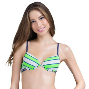 Suti� Teen Bojo Push-Up Listras Verde Capricho | 520.012
