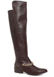 Bota Montaria Via Marte Over Knee 15-5904 Caf� Via Marte