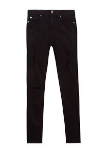 Cal�a jeans the ankle skinny destroyed - preta