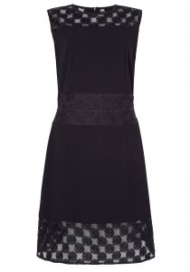 Vestido Mixed starnight - preto