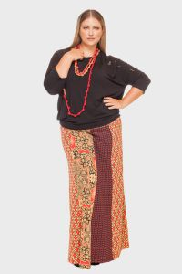 Saia Longa Mix Estampas Plus Size