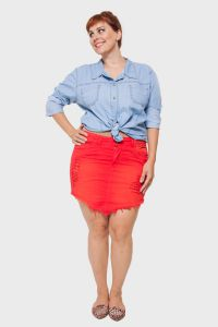 Saia Sarja Color Plus Size