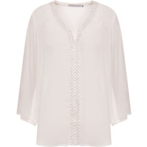 ANTHOLOGIA - BLUSA CHIFFON BORDADO FRENTE - OFF WHITE