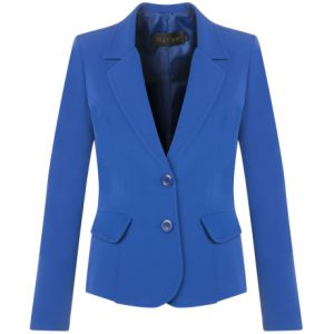MALISE - BLAZER SPAM LAPELA RECORTE COSTAS - ROYAL