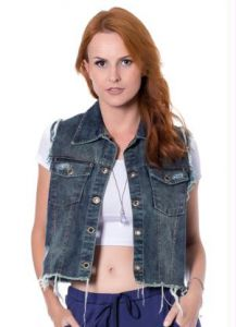 Colete Jeans Azul Miss Masy