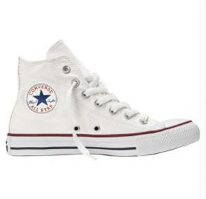 All star branco cano alto
