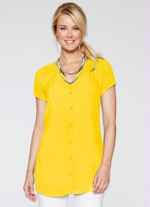 Camisa Curta Cold Dyed Amarelo