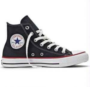 T�nis Cano M�dio Preto e Branco All Star