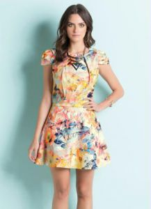 Vestido God� Mix Floral