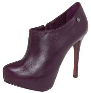 Ankle Boot Couro My Shoes Fashion Vinho My Shoes
