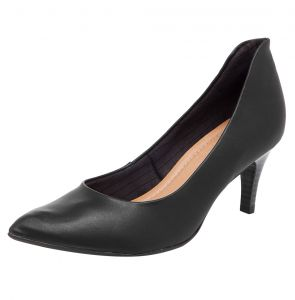 Scarpin Piccadilly Clean Preto Piccadilly
