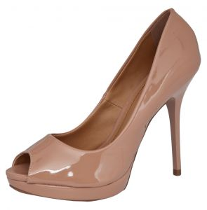 Peep Toe DAFITI SHOES Meia Pata Nude DAFITI SHOES