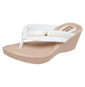 Sand�lia Piccadilly Derby Branca/Bege/Dourada Piccadilly