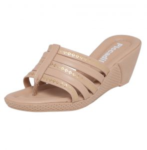Sand�lia Piccadilly Stripes Bege/Dourada Piccadilly