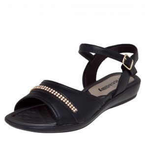 Sand�lia Piccadilly Strass Preto Piccadilly