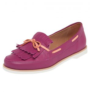 Mocassim Couro SMIDT Color Rosa/Coral SMIDT