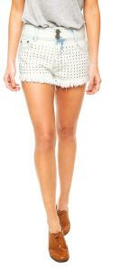 Short Jeans dimy Delav� Hotfix Azul dimy