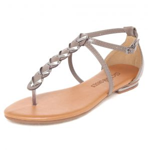 Sand�lia DAFITI SHOES Tran�a Marrom DAFITI SHOES