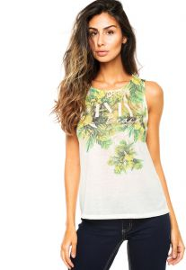 Regata Sa�da de Praia dimy Tropical Off-white dimy