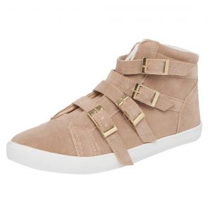 T�nis DAFITI SHOES Cano Alto Fivelas Bege DAFITI SHOES