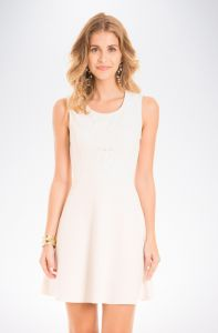 Vestido Mercatto Liso Off-White Mercatto