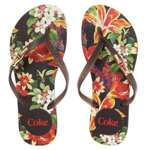 Chinelo Coca Cola Shoes Forest Queen Preto Coca Cola Shoes