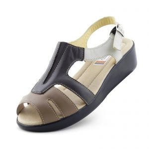 Sand�lia Doctor Shoes 206 Caf� Doctor Shoes