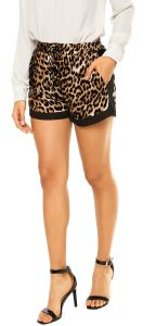 Short Facinelli by MOONCITY On�a Preto/Marrom Facinelli by
