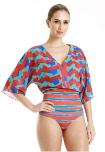 Blusa Richini Body Onda Geometrica Resort Estampada Richini