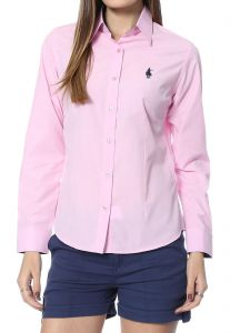 Camisa Club Polo Collection Slim Fit Rosa Club Polo Collect