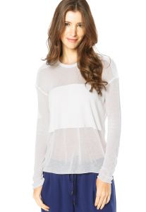 Blusa MNG Barcelona Off-white
