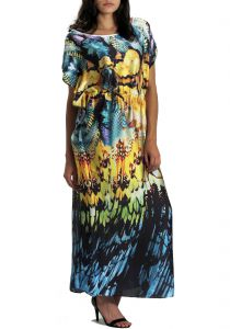 Kaftan 101 Resort Wear Longo Estampado