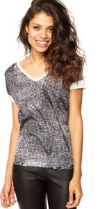 Camiseta Calvin Klein Abstrata Off-white/Preta
