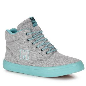 T�nis Skate Feminino Mary Jane High School Moleton - Cinza