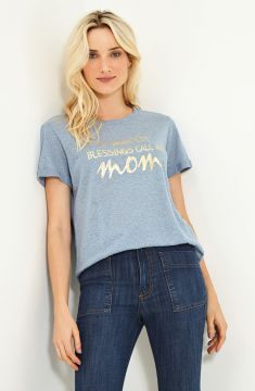 Blusa Silk Foil Mom #ateen Essentials
