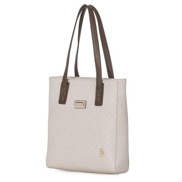 BOLSA SHOPPING FELLIPE KREIN COM TEXTURA NUDE