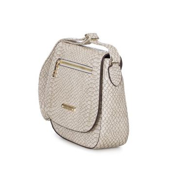 BOLSA FELLIPE KREIN TRANSVERSAL COBRA OFF WHITE