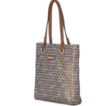 BOLSA SHOPPING FELLIPE KREIN COM MONOGRAMA BRONZE