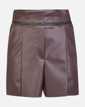 SHORT DE LEATHER CINTURA ALTA AMARO