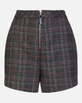SHORT TWEED XADREZ AMARO