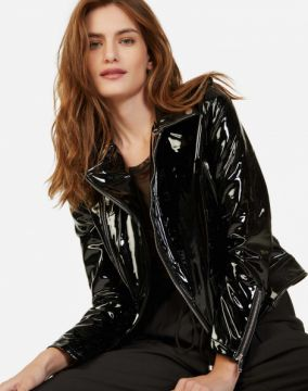 JAQUETA LEATHER BIKER AMARO