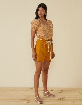 Short Clochard Linho Com Viscose - Amaro