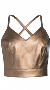 TOP CROPPED METAL AMARO